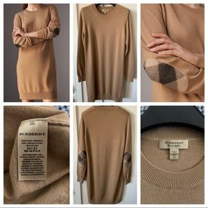 Burberry Sweaterdress w/ check elbow patches